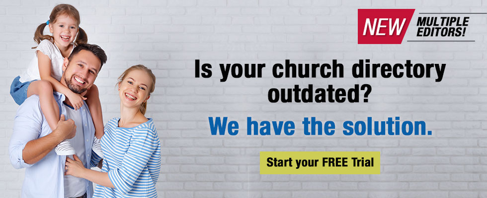 Church Directory We Have Your Solution banner image multiple editors