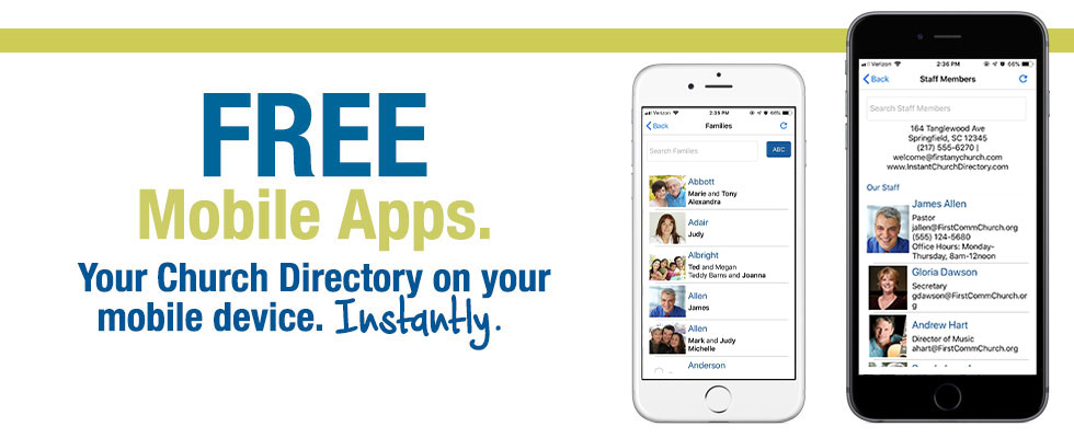 Your Church Directory on Your Mobile Device. Instantly!