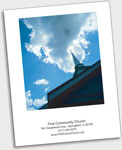 Church directory Cover page sample image